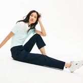 Lacoste Women's Relaxed Fit Cotton Chinos