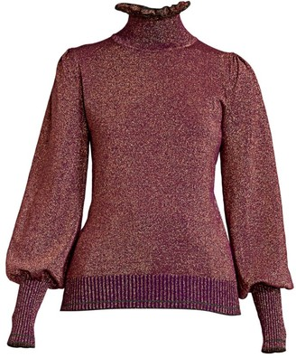Marc Jacobs Runway Turtleneck Lurex Knit Sweater