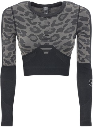 adidas by Stella McCartney Printed Truepur Tech Crop Top