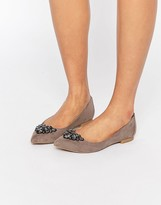 Carvela Manic Embellished Point Flat Shoes