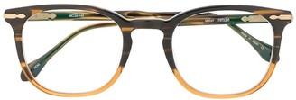 Matsuda Square-Frame Havanna Glasses