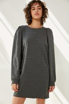 Silence & Noise Silence + Noise Rachel Shirred Long Sleeve T-Shirt Dress