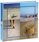 Hama 10 x 15 cm Sea Shells Memo Album for 200 Photos, Blue