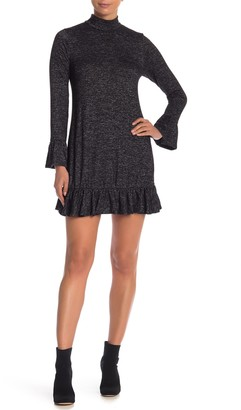 Philosophy di Lorenzo Serafini Mock Neck Long Sleeve Knit Dress
