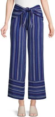 Design Lab Tie-Front Wide-Leg Pants