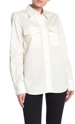 Helmut Lang Parachute Long Sleeve Button Front Shirt