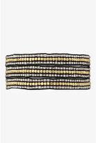 Torrid Gold & Clear Beaded Wrap Bracelet