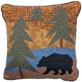 Donna Sharp Midnight Bear Square Decorative Pillow