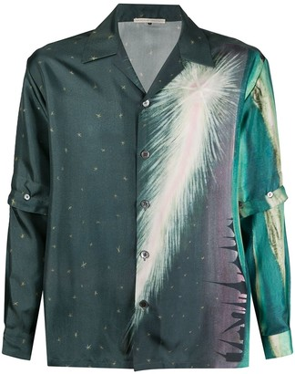 Marco De Vincenzo Detachable Sleeve Silk Shirt