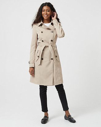 Le Château Cotton Blend Double Breasted Trench Coat