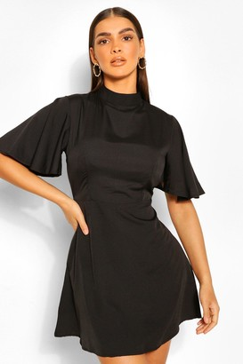 boohoo High Neck Skater Dress