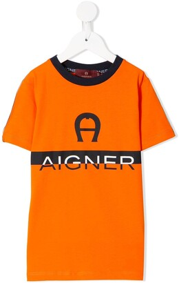 Aigner Kids logo-print short-sleeve T-shirt