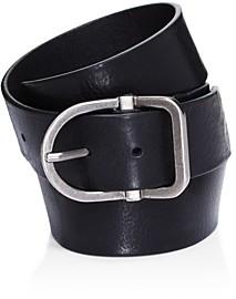 Frye Men's D-Shape Buckle Leather Belt