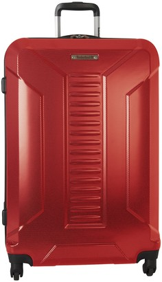 """Timberland Red Glencliff 28"""" Hardside Expandable Spinner Suitcase"""