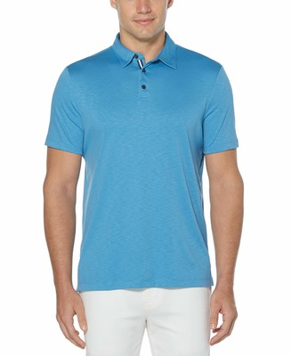 Perry Ellis Men's Ultra Soft Touch Slub Short Sleeve Polo Shirt