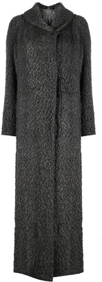 Gianfranco Ferré Pre-Owned 2000s Fluffy-Knit Maxi Coat
