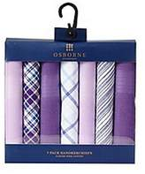 Osborne Pack Of Seven Purple Patterned Handkerchiefs