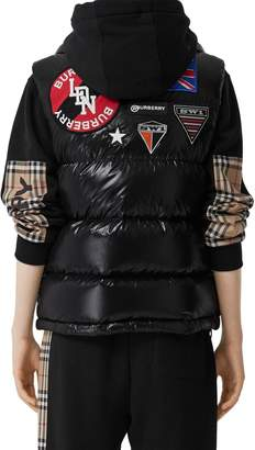 Burberry NYLON DOWN VEST W/PATCHES