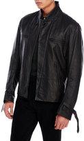 Ann Demeulemeester Black Saturn Leather Jacket