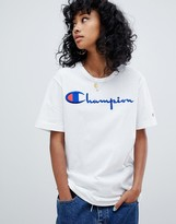 Champion reverse weave oversized t-shirt with front logo