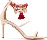 Aquazzura beaded ankle stiletto sandals