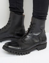 Selected Varian Leather Lace Up Boots