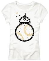 Star Wars Girls' BB8 Short Sleeve Tee - White