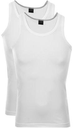 Boss Business BOSS Double Pack Vest T Shirts White