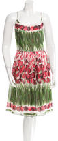 Anna Sui Sleeveless Printed Dress