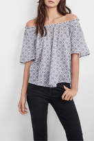 Velvet Printed Cotton Blouse