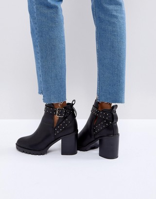 Miss KG Taffy Studded Heeled Ankle Boots