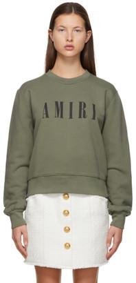Amiri Khaki Core Logo Sweatshirt