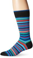 Bugatchi Men's Stripe Time Fancy Sock