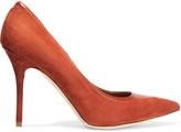 Malone Souliers Emmanuelle leather-trimmed suede pumps