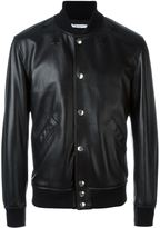 Givenchy leather bomber jacket - men - Goat Skin/Lamb Skin/Acrylic/Wool - 48
