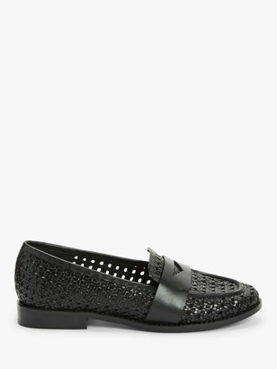 John Lewis & Partners Giselle Leather Woven Loafers