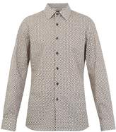 Prada Single-cuff Arrow-print Cotton Shirt