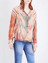 Sandro Tie-dye silk shirt