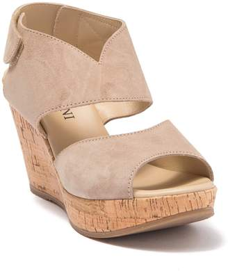 Cordani Rhonda Cork Platform Wedge Sandal