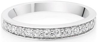 Beaverbrooks Platinum Diamond Half Eternity Wedding Ring