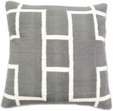 Aura Woven Rectangles 20-Inch Square Throw Pillow