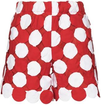 Bode Yo-yo coverlet cotton shorts