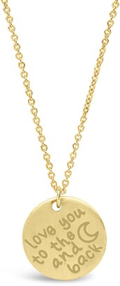 Sterling Forever 14K Yellow Gold Vermeil 'Love You to the Moon & Back' Pendant Necklace