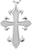 Asstd National Brand Mens Cross Pendant Necklace Stainless Steel