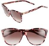 Marc Jacobs Women's 58Mm Butterfly Sunglasses - Blue Havana