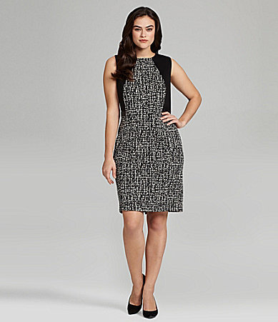 Calvin Klein Woman Sleeveless Houndstooth Dress
