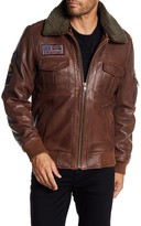 Rogue A-2 Flight Jacket with Faux Shearling Collar