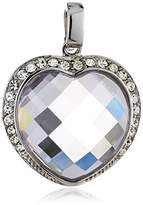 Celesta Charm Pendant with Clip Closing 925 Sterling Silver and one Heart Cubic Zirconia and 42 Crystalen 3602408331