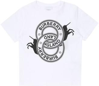 BURBERRY KIDS Logo cotton-jersey T-shirt