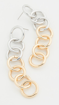 Kenneth Jay Lane Multi Circle Drop Earrings